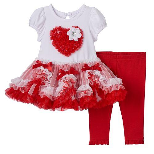 54d704dad26c Baby Girl Nannette Valentine's Day Tutu Dress & Leggings Set