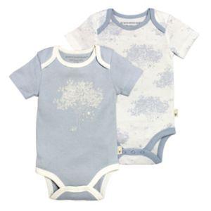 Baby Boy Burt's Bees Baby 2-pk. Organic Blue Bodysuits