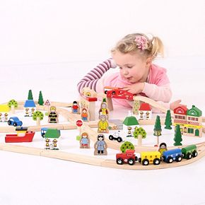 Bigjigs Toys Town & Country Set