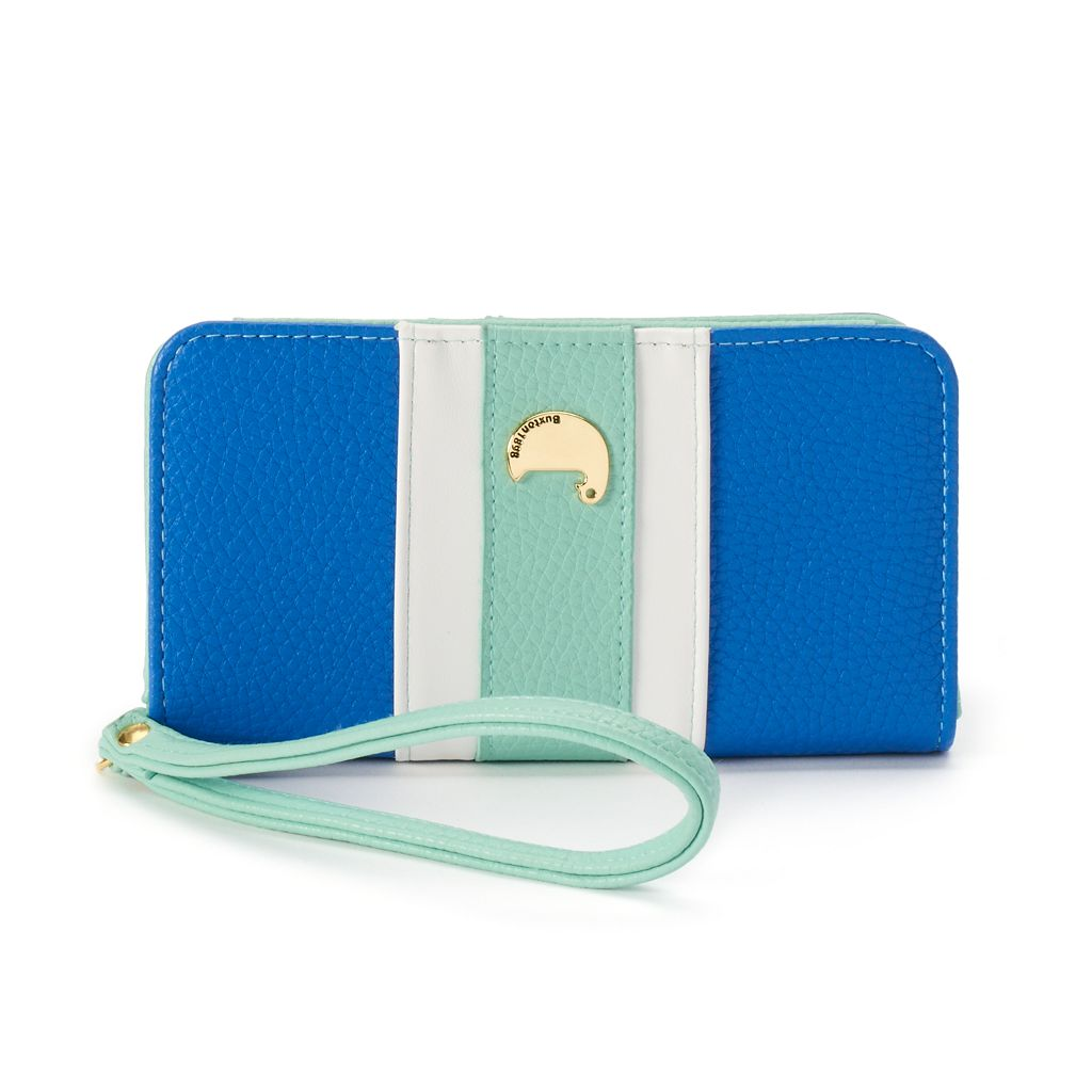 Buxton Prepster Colorblock Cell-Phone Wristlet