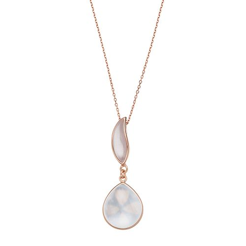 5271789e6 14k Rose Gold Over Silver Lab-Created Violet Cat's-Eye & Mother-of-Pearl  Doublet Pendant Necklace