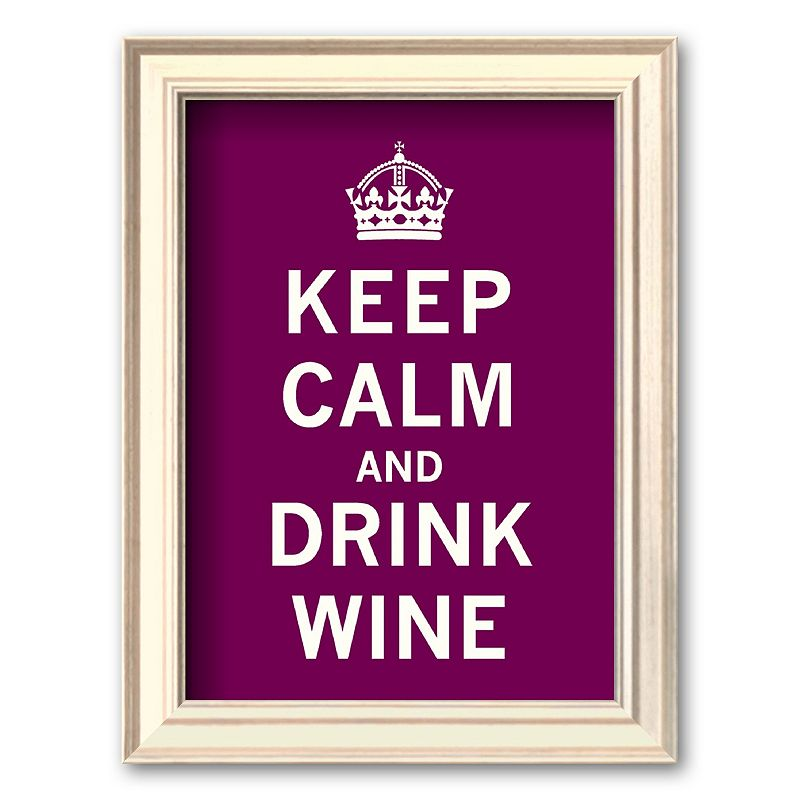 "Art.com ""Keep Calm and Drink Wine"" Framed Art, Multicolor"