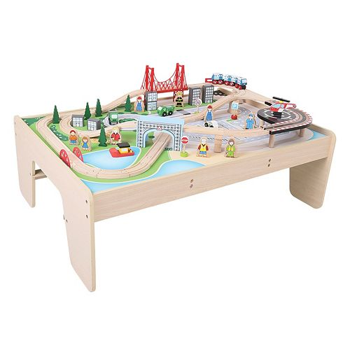 Bigjigs Toys City Train Set & Table