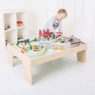 Bigjigs Toys City Train Set & Table