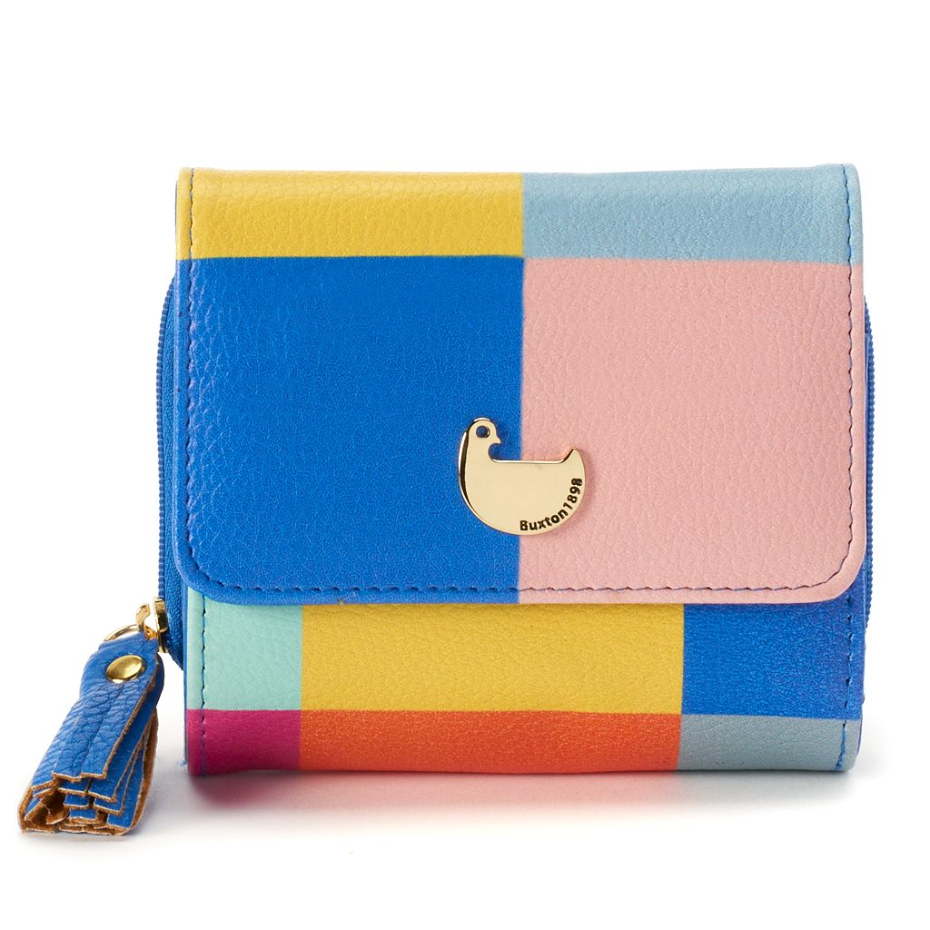 Buxton Colorblock Zip Wallet