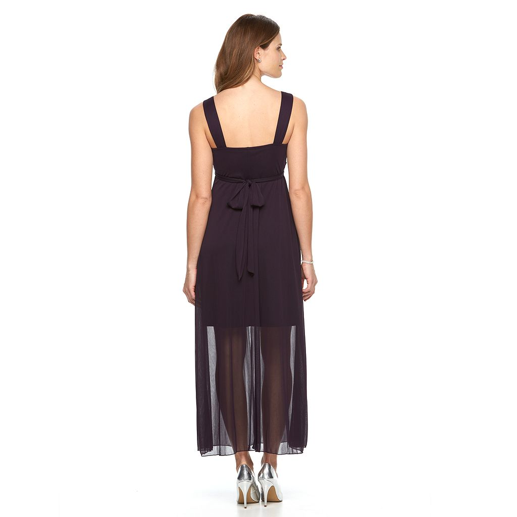 Women's Connected Apparel Chiffon Maxi Dress