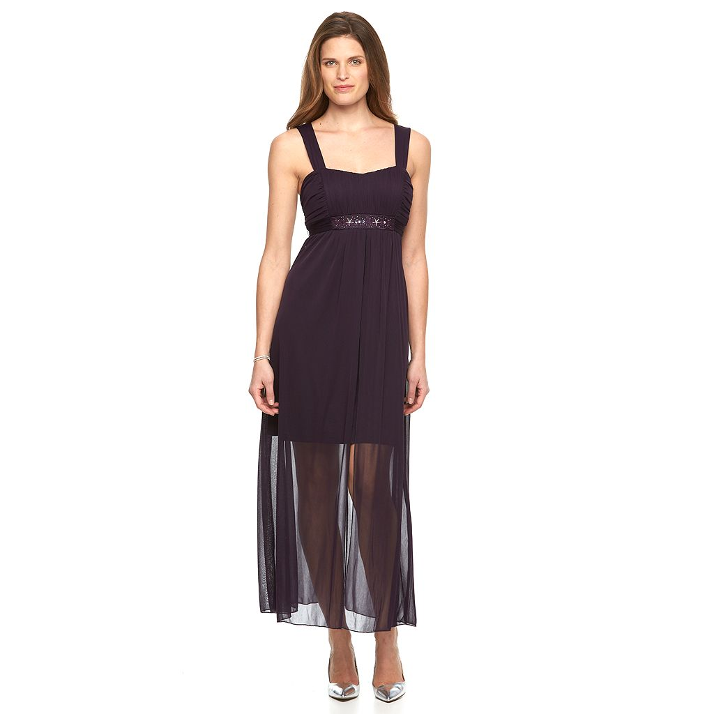 Women's Connected Apparel Chiffon Maxi Dress