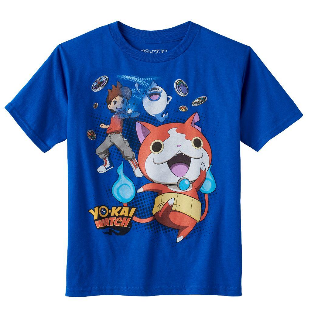 Boys 4-7 Yo-Kai Watch Nate, Jibanyan & Whisper Tee