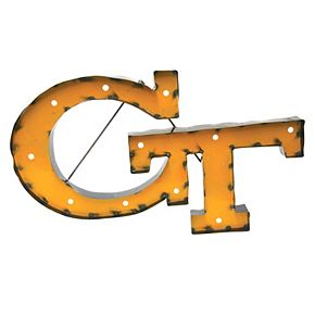 Georgia Tech Yellow Jackets Recycled Metal Lighted Wall Décor