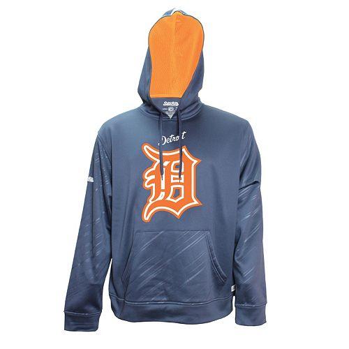 Men's Stitches Detroit Tigers Embossed Performance Fleece Hoodie