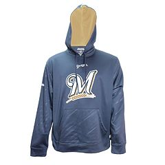 Men's Stitches Milwaukee Brewers Embossed Performance Fleece Hoodie