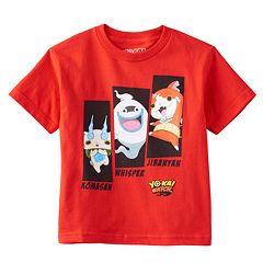 Boys 4-7 Yo-Kai Watch Jibanyan, Whisper & Komasan Tee