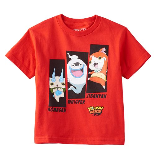 Boys 4-7 Yo-Kai Watch Jibanyan, Whisper & Komasan Tee