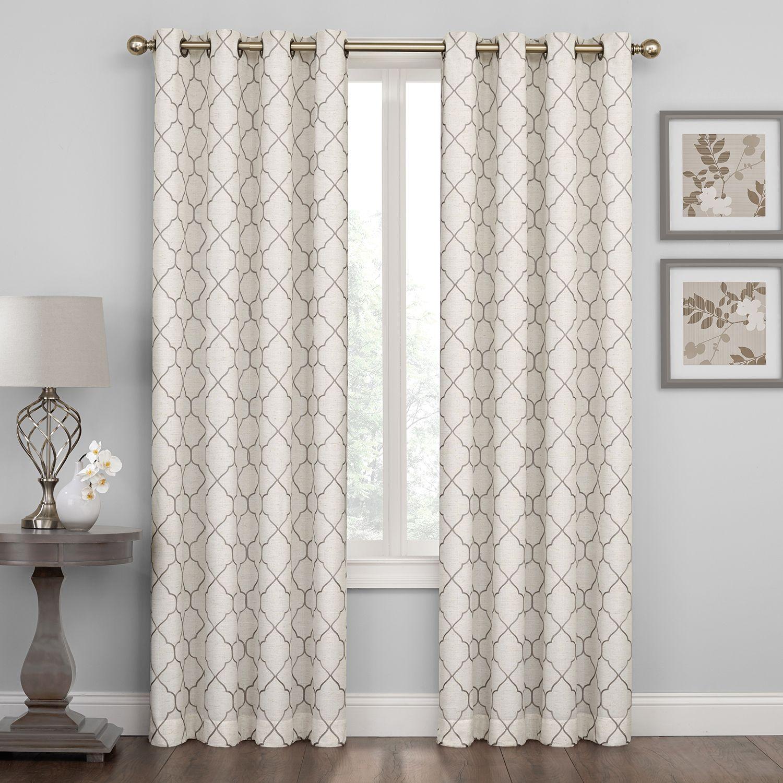 Regent Court Embroidered Lattice Curtain