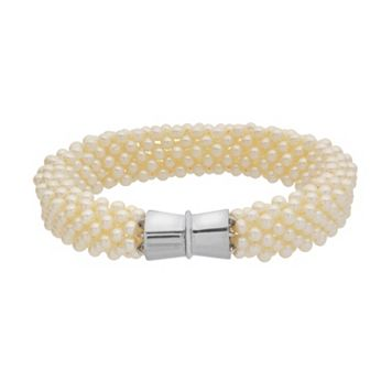 PearLustre by Imperial Freshwater Cultured Pearl Woven Bracelet