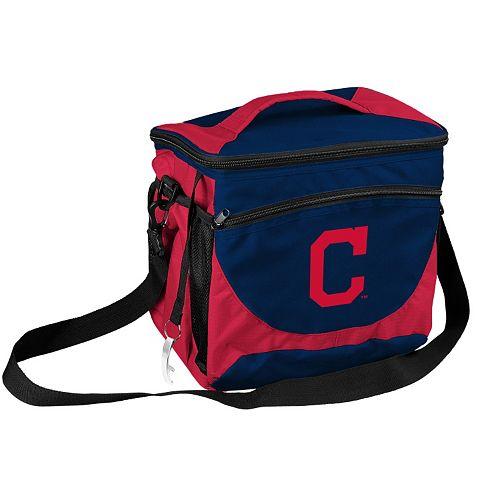 Logo Brand Cleveland Indians 24-Can Cooler