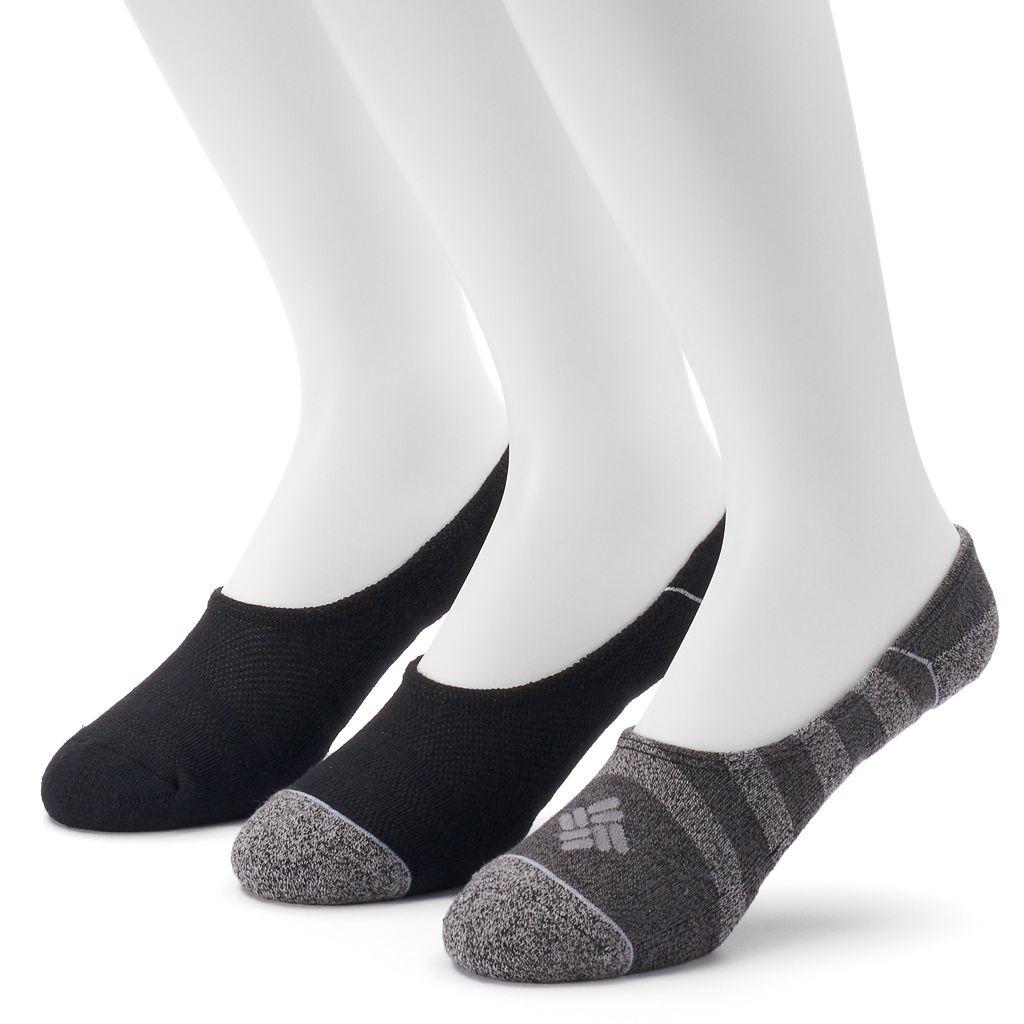 Men's Columbia 3-pack Striped & Solid Liner Socks