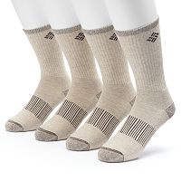 Men's Columbia 4-pack Heathered Performance Crew Socks