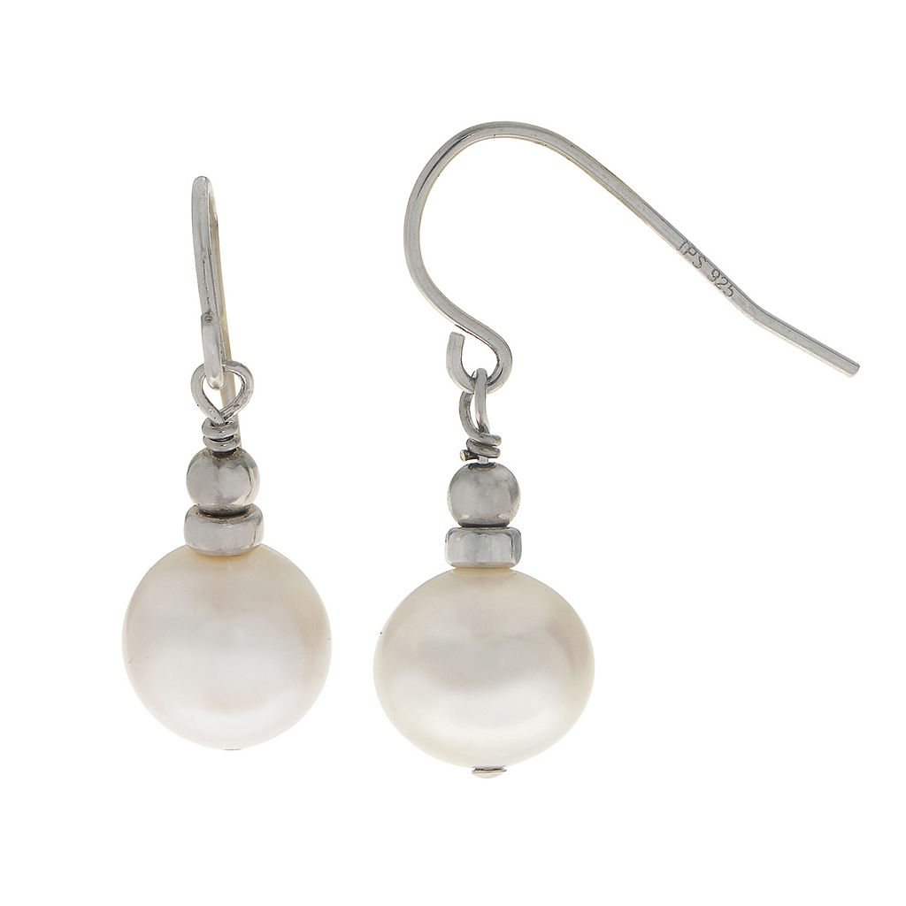 PearLustre by Imperial Sterling Silver Freshwater Cultured Pearl Drop Earrings