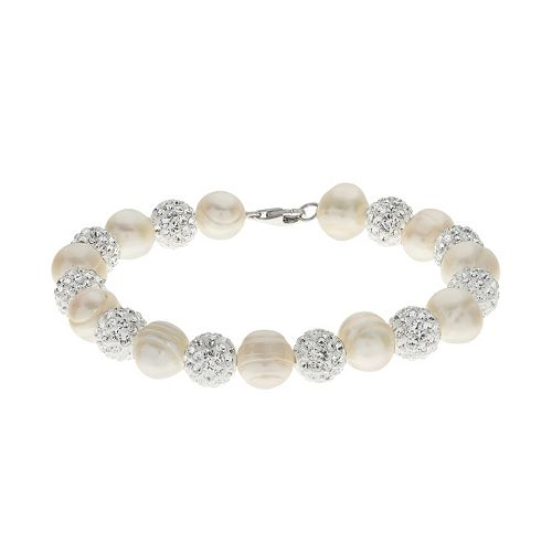 PearLustre by Imperial Freshwater Cultured Pearl & Crystal Bead Bracelet Bracelet