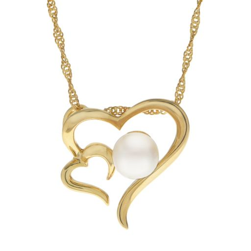 PearLustre by Imperial Freshwater Cultured Pearl Double Heart Pendant