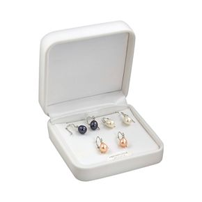 Sterling Silver Dyed Freshwater Cultured Pearl Earring Set