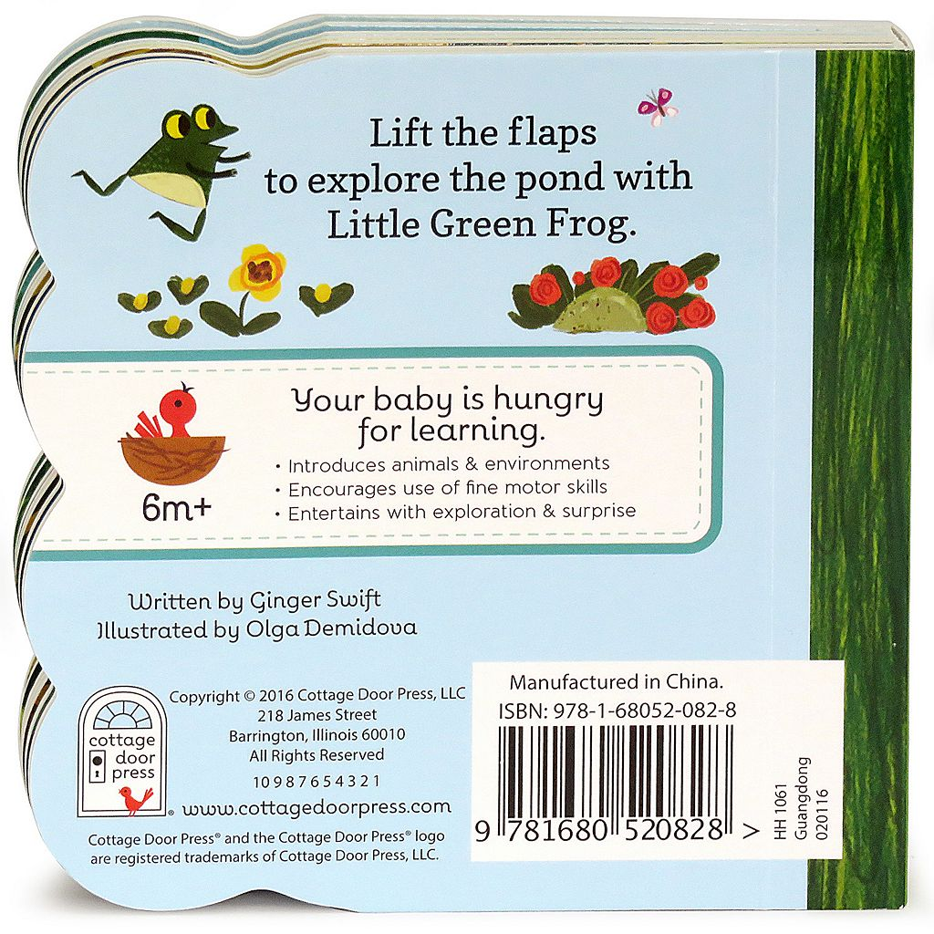 Little Green Frog: Lift-a-Flap Board Book by Cottage Door Press