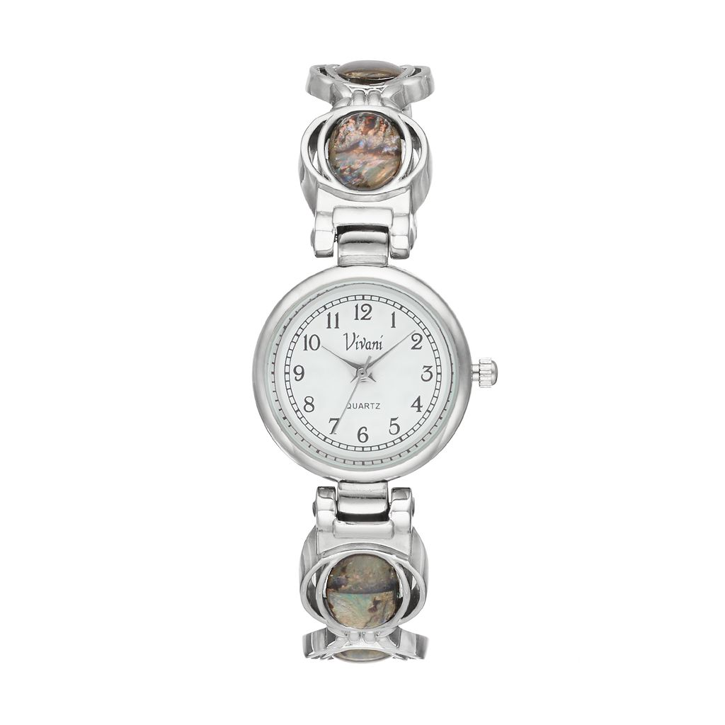Vivani Women's Simulated Abalone Cuff Watch