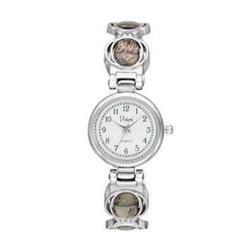 Vivani Women's Simulated Abalone Cuff Watch