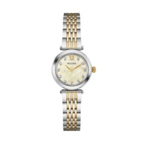 Bulova Women's Diamond Stainless Steel Watch - 98P154