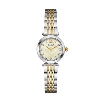 Bulova Women's Diamond Stainless Steel Watch - 98P154
