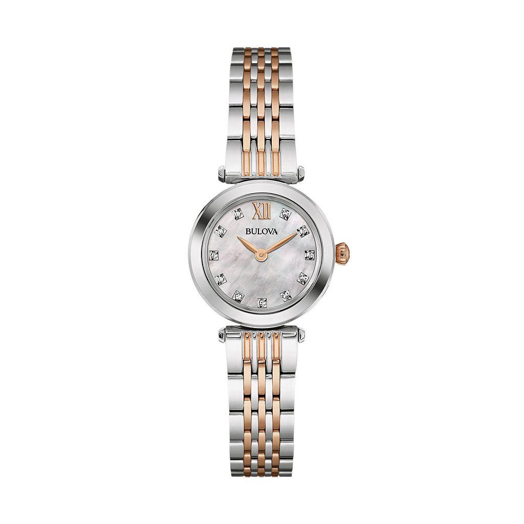 Bulova Women's Diamond Stainless Steel Watch - 98P156