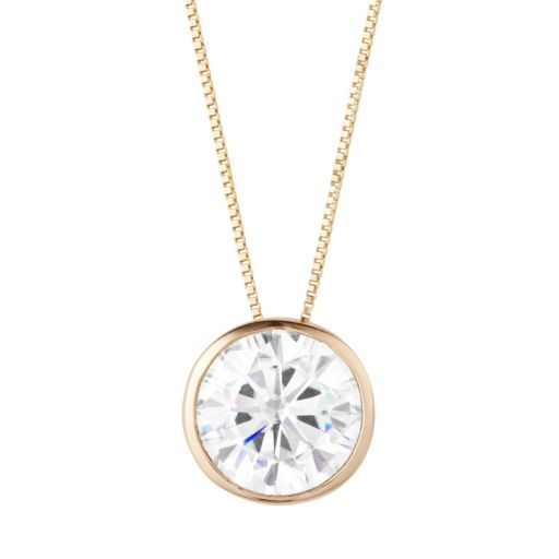 Forever Brilliant 14k Gold 2 3/4 Carat T.W. Lab-Created Moissanite Pendant