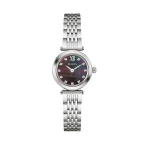 Bulova Women's Diamond Stainless Steel Watch - 96P169