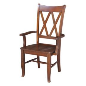 International Concepts Double X-Back Dining Chair