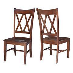 International Concepts Double X-Back Dining Chair 2-piece Set
