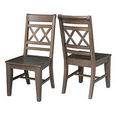 International Concepts Canyon Double X- Back Dining Chair 2-piece Set
