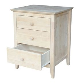 International Concepts 3-Drawer Nightstand