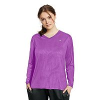 Plus Size Champion Vapor Long Sleeve Tee