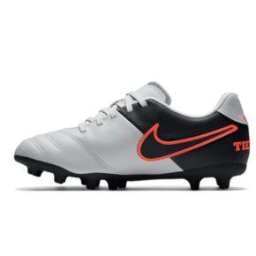 Nike Jr. Tiempo Rio III Firm Ground Kids' Soccer Cleats