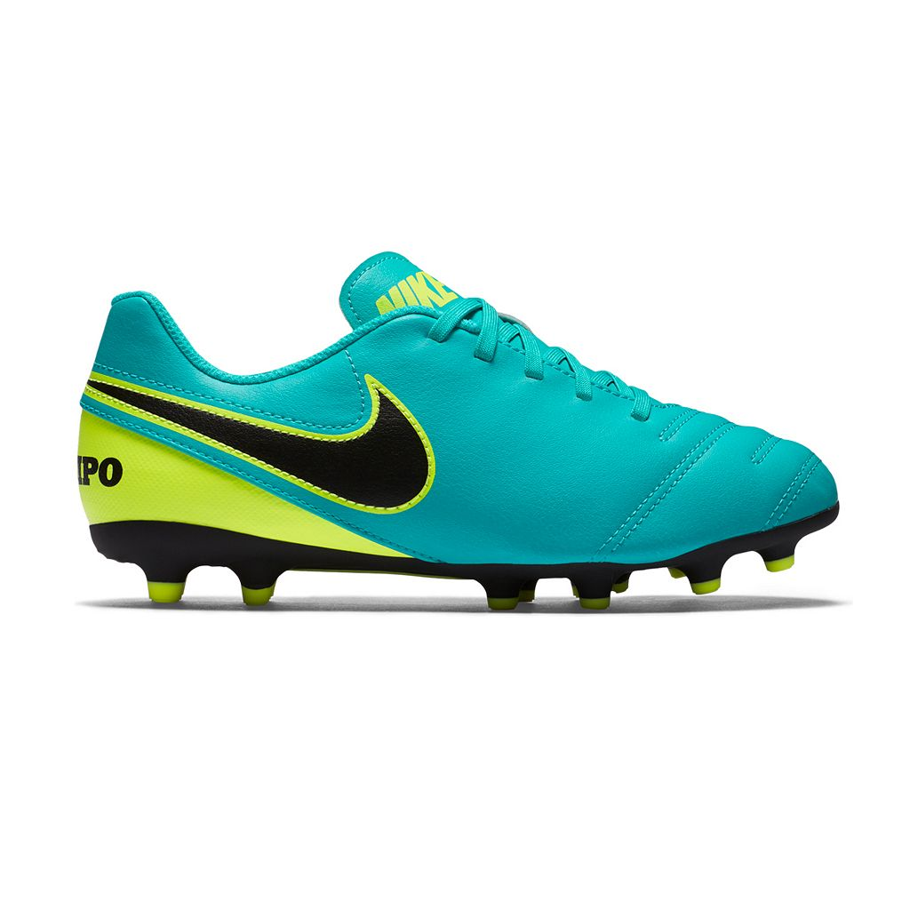 Nike Jr. Tiempo Rio III Firm Ground Kids' Soccer Cleats