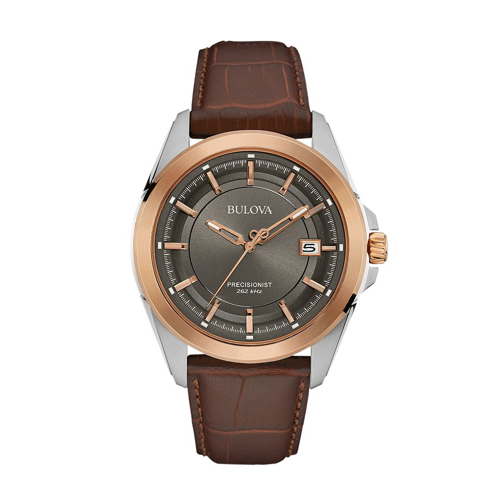 Bulova Men's Precisionist Leather Watch - 98B267