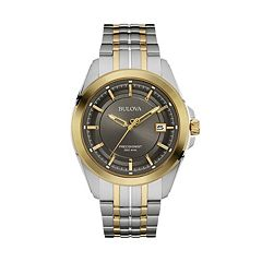 Bulova Men's Precisionist Two Tone Stainless Steel Watch