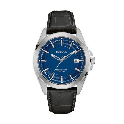 Bulova Men's Precisionist Leather Watch - 96B257