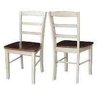 International Concepts Madrid Ladder-Back Dining Chair 2-piece Set