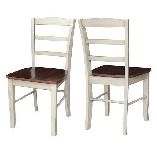 International Concepts Madrid Ladder-Back Dining Chair 2-piece Set