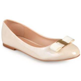 Journee Collection Kim Women's Glossy Ballet Flats