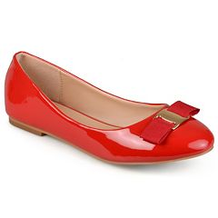 Journee Collection Kim Women's Glossy Ballet Flats