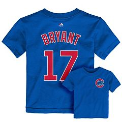 Toddler Majestic Chicago Cubs Kris Bryant Player Name and Number Tee