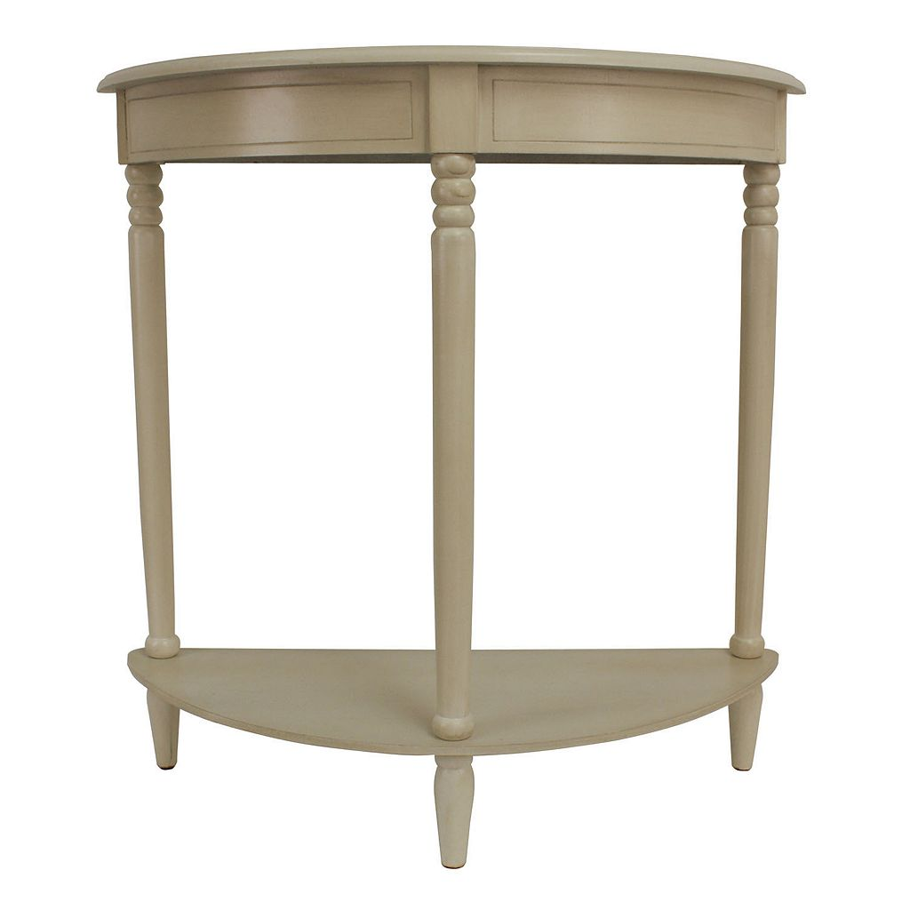 Decor Therapy Simplicity Half Round End Table